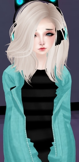 Blonde Headphones Girl