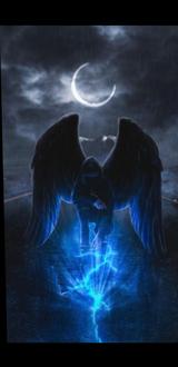 Fallen Angel M Full Background + Black Background